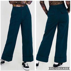 EUC BDG Deep Cuff Tailored Wide Leg trousers